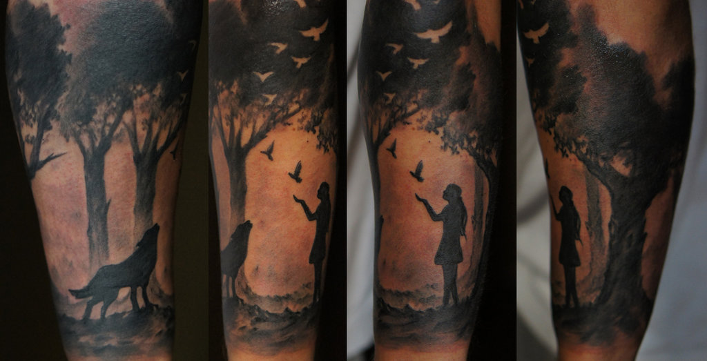 forest-sleeve-tattoo-design